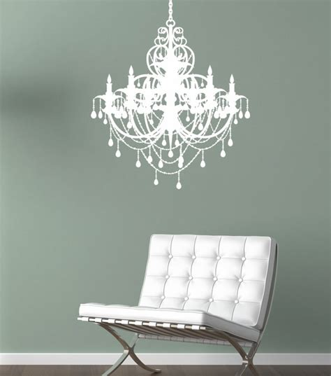 Chandelier Decals For Walls Chandelier Wall Decal By Alphabet Garden Designs Rosenberryrooms