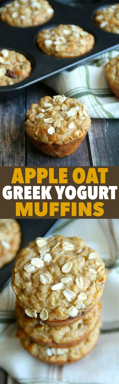 apple yogurt muffins apple oat greek yogurt muffins running with spoons