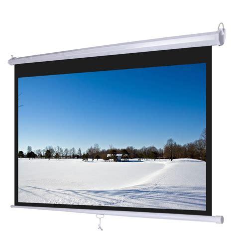 Screen Projector Motorized 92 Inci 92 quot 16 9 manual projector screen 80 quot x 45 quot pull