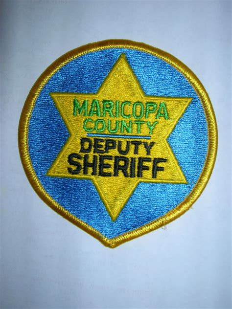 maricopa county deputy sheriff mike snook s police patch collection state of arizona