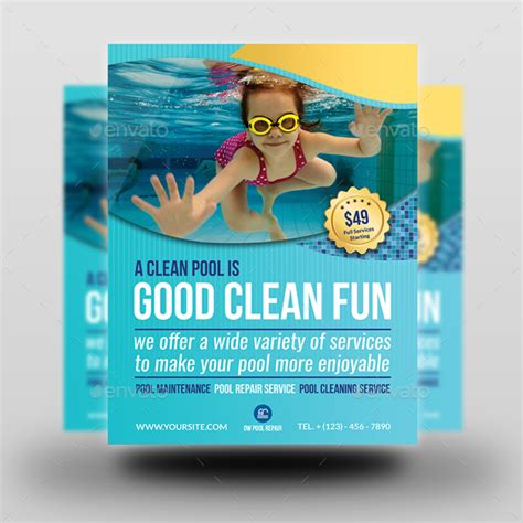 free pool flyer templates swimming pool cleaning service flyer template by