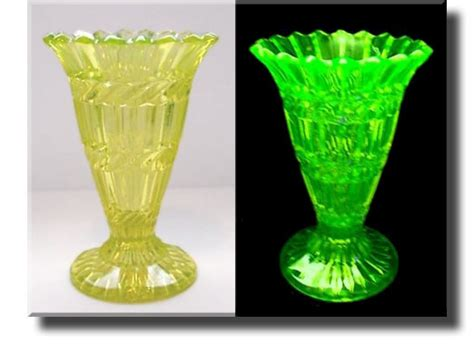 Uranium Vase by Vaseline Glass Uranium Glass Vase Henry Greener C 1880