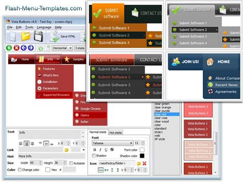 Flash Menu Templates flash menu builder 1 0 screenshot