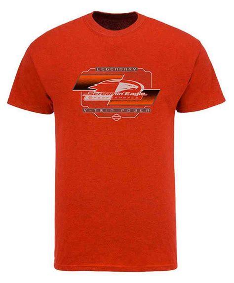 T Shirt Harley Davidson Logo Original harley davidson s screamin eagle hd logo t shirt antique orange harlmt0248