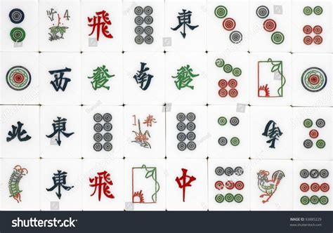 mahjong tiles stock image image of asian ancient surface of a set of mahjong tiles which is the chinese