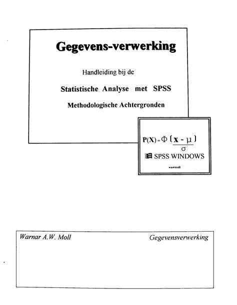 Statistical Analysis | STATISTIEK MICROBIOLOGIE BOTANIE en