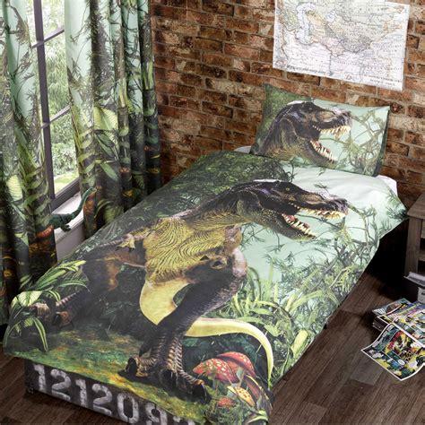 Boyset Dino dinosaur design single duvet cover sets boys bedding bedroom ebay