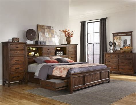 wolf furniture bedroom sets intercon furniture wolf creek 5 piece bookcase bedroom set