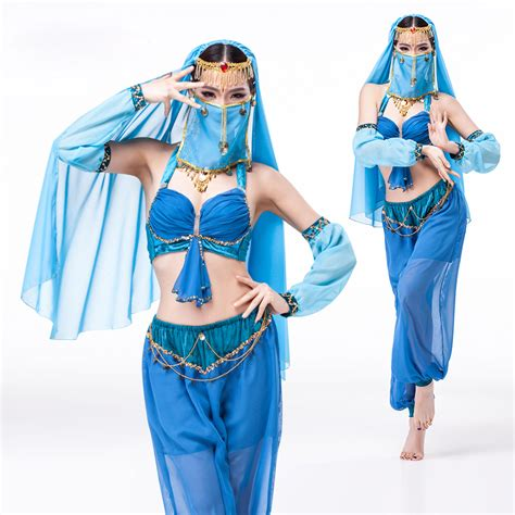 aliexpress rwanda 5 piece sexy indian costume exotic apparel women genie