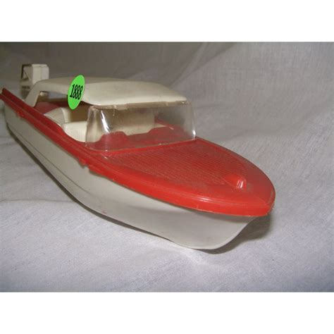 toy boat vintage toy plastic boat and motor
