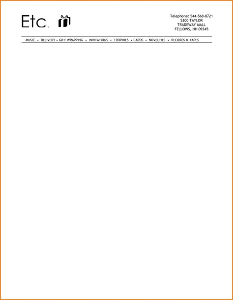 free business letterhead templates for word 2007 7 letterhead templates wordreference letters words