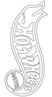 Free coloring pages of hotwheels logo