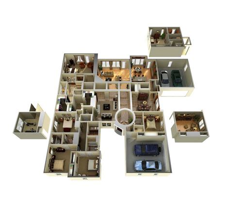 3d house plans 3d floor plan of a celeb mansion modern house