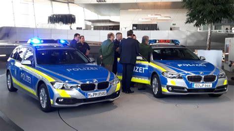 polizei wagen bayerns polizei bekommt erste blaue streifenwagen