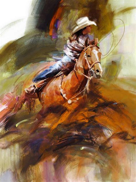 imagenes de vaqueras y caballos cuadros modernos cuadros de mujeres vaqueras montando