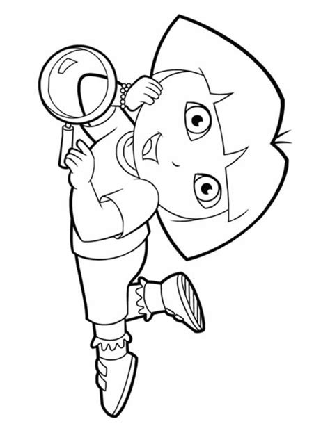 dora puppy coloring page dora coloring pages backpack diego boots swiper print