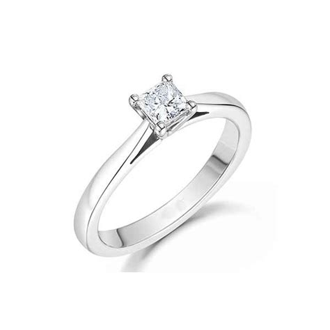 cheap solitaire ring 0 33 carat princess