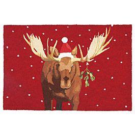 christmas rug moostletoe christmas moose  scott church