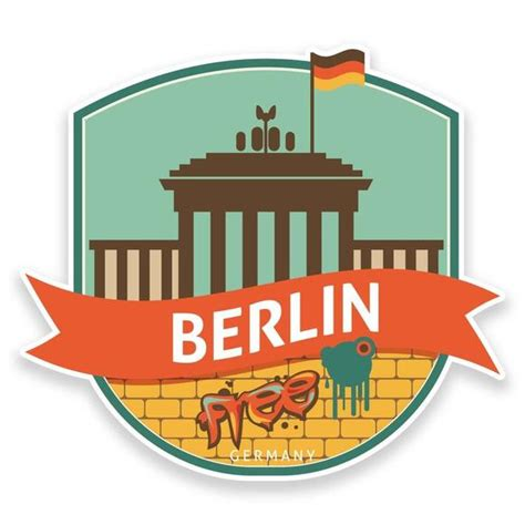 Auto Sticker Berlin by Travel Stickers Tagged Quot Berlin Quot Destination Vinyl Ltd