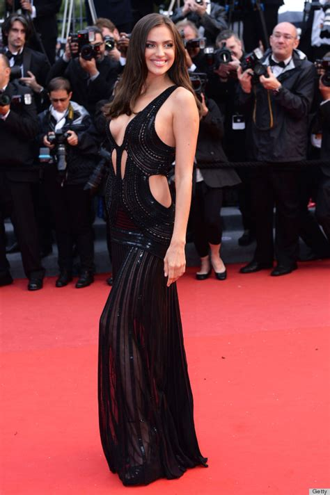 Afida Dress 4 irina shayk cannes dress puts model s assets on display