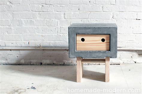 diy lego table concrete modern ep32 concrete nightstand