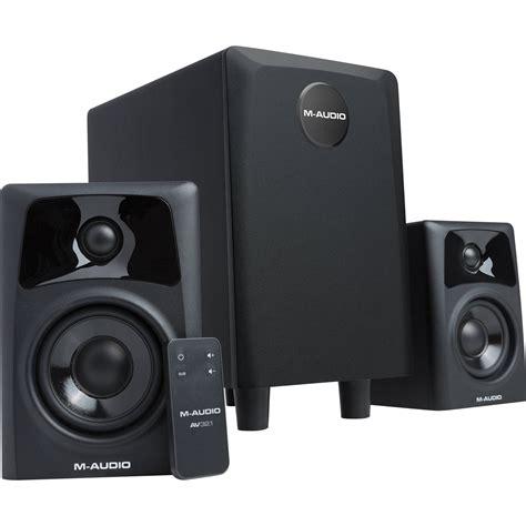 M Audio Av32 1 Studio Monitor With Subwoofer m audio av32 1 dual speaker subwoofer system av32 1 b h