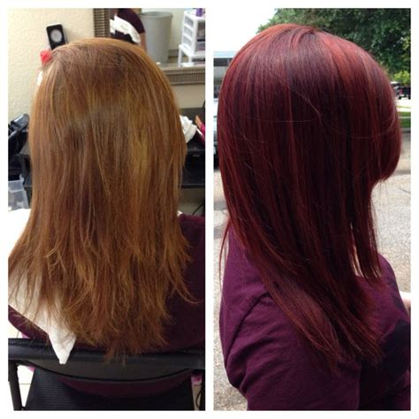 Matrix Socolour Chocolate before after using matrix socolor violet beautiful