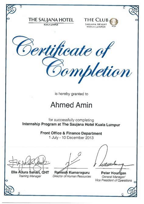 suajana hotel club suajana resorts internship certificate