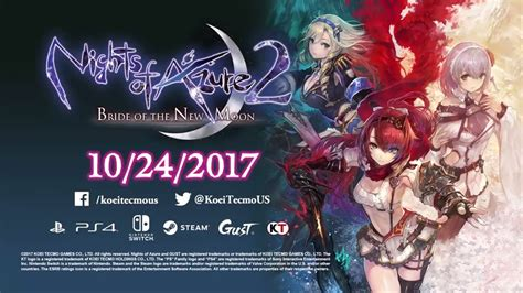 Kaset Nintendo Switch Nights Of Azure 2 Of The New Moon nights of azure 2 of the new moon coming west in october nintendo everything