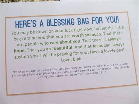 blessing bags   homeless blair blogs blessing