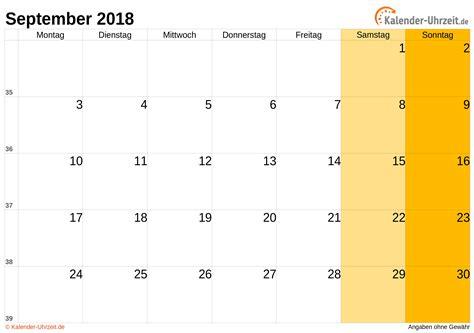 Mai 2018 Kalender September 2018 Kalender Mit Feiertagen