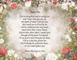 personalized poem  aunt gift   occasion choose art christmas birthday ebay