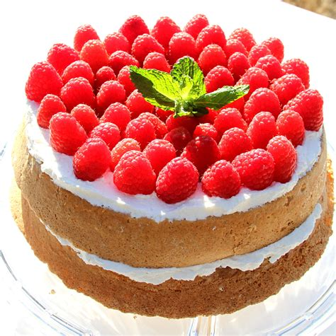 recipes with raspberries angel sponge cake with raspberries and cream recipe all