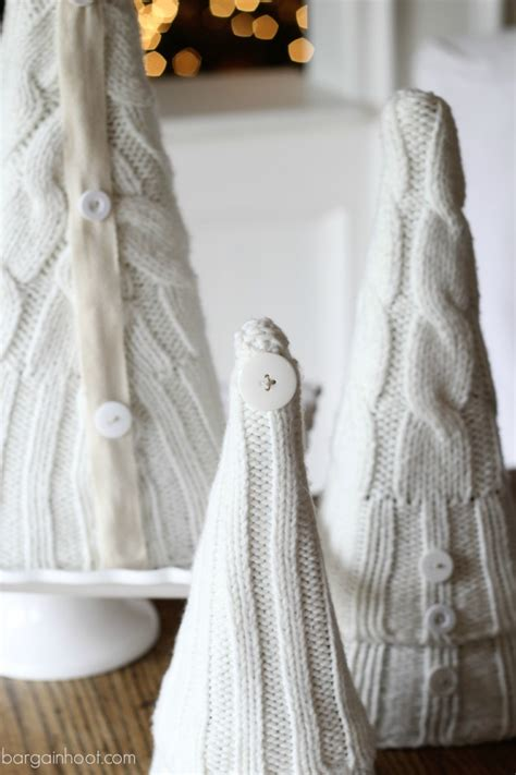 Handmade Sweater Ideas - recycled sweater trees handmade ideas