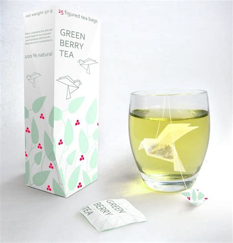 Origami Tea Bag - 15 clever tea packaging and tea packaging designs