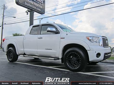 white toyota tundra with black wheels toyota tundra with 20in black rhino mojave wheels