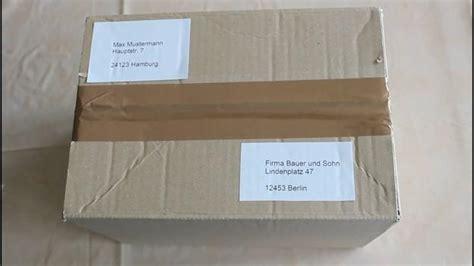 Packstation Adressaufkleber Drucken by Exp 233 Diteurs Et Les Destinataires Pour Emballer