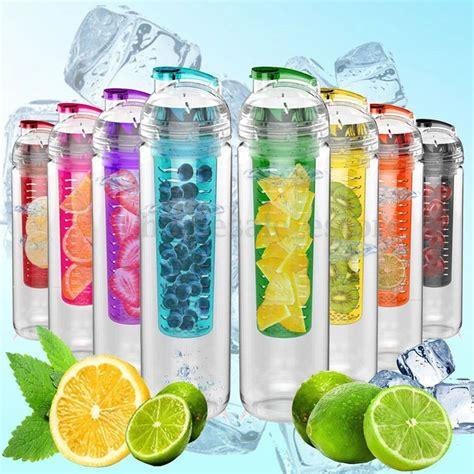 Tritan Fruit Infused Water Bottle 800ml tritan fruit infusing infuser water sports health lemon juice bottle cup ebay