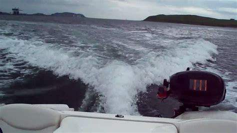driving boat in waves small boat bayliner wake footage making big waves while