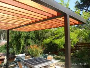 Wood Pergola by Modern Steel And Wood Pergola Contemporary Patio