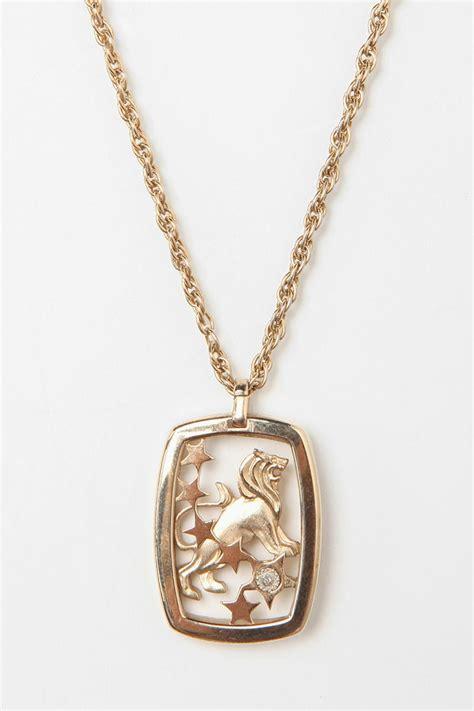 vintage 80s cardin leo necklace jewelry