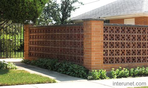 Decorative Privacy Fences brick fence decorative block picture interunet