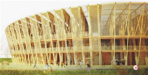 House Architecture Styles shen chen designs a temporary stadium built in bamboo