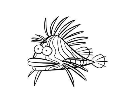 Lion Fish Coloring Page Colordad Lionfish Coloring Page