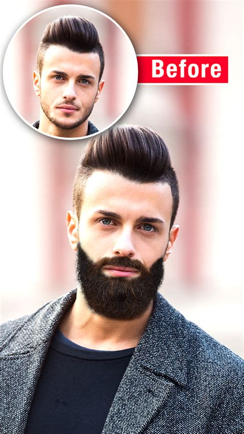 before and after haircut app men mustache and hair styles android apps on google play