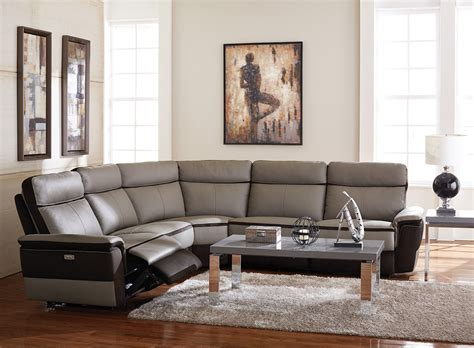 homelegance reclining sofa homelegance laertes power reclining sectional sofa set