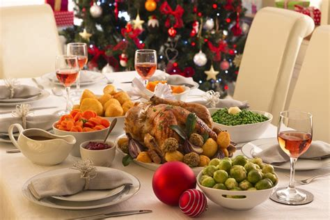 images of christmas dinner the average british person eats 6 000 calories on
