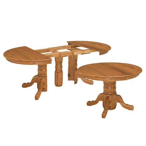 Split Pedestal Extension Table shelton split pedestal extension table amish dining tables amish furniture shipshewana