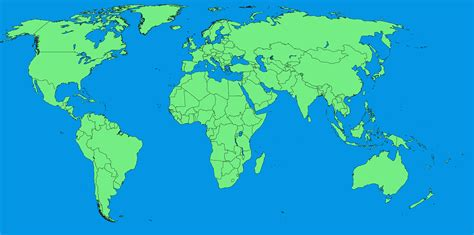 file a large blank world map with oceans marked in blue
