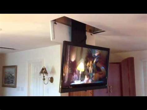 the home gurus tv ceiling drop down unit youtube